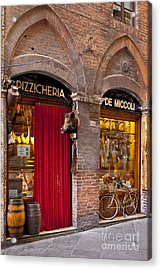 Siena Meat And Cheese Shop Acrylic Print by Brian Jannsen