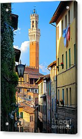 Siena Streets Acrylic Print by Inge Johnsson