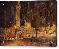 Siena Sunset Acrylic Print by Ryan Fox