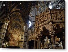 Siena's Duomo Cathedral Acrylic Print by Sami Sarkis