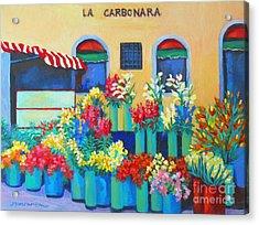 Sienna Flower Market Acrylic Print by Sharon Nelson-Bianco