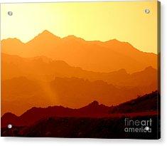 Sienna Layers Acrylic Print