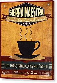 Sierra Maestra Cuban Coffee Acrylic Print by Cinema Photography