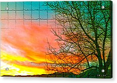 Sierra Sunset Cubed Acrylic Print by Mayhem Mediums
