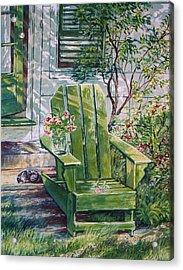 Siesta Acrylic Print by Joy Nichols