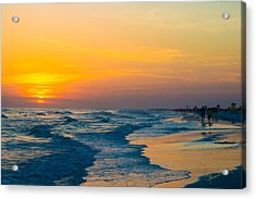 Siesta Key Sunset Walk Acrylic Print by Susan Molnar