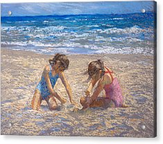 Sifting Sand Acrylic Print by Jackie Simmonds