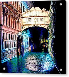 Sigh In Venice Acrylic Print by Georgiana Romanovna