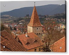 Sighisoara From The Rooftop  Acrylic Print