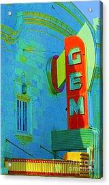 Sign - Gem Theater - Jazz District  Acrylic Print
