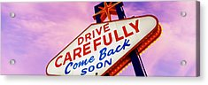 Sign, Las Vegas Nevada, Usa Acrylic Print by Panoramic Images