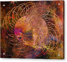 Sign Of The Times - Abstract Acrylic Print by J Larry Walker