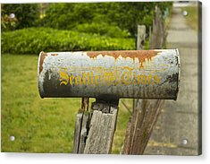 Sign Of The Times Seattle Times Acrylic Print