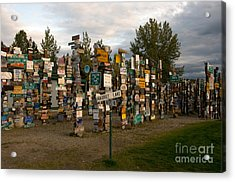 Sign Post Forest Acrylic Print by Mark Newman