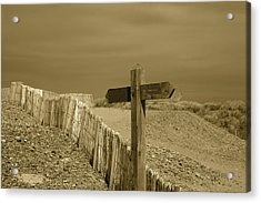 Sign Post To Nowhere 2 Acrylic Print by Christopher Rowlands