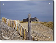 Sign Post To Nowhere Acrylic Print by Christopher Rowlands