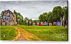 Acrylic Print featuring the photograph Signage Barn by Ricky L Jones