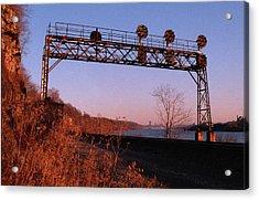 Signal Bridge Along Ohio River Near Pittsburgh Acrylic Print by Eric Miller