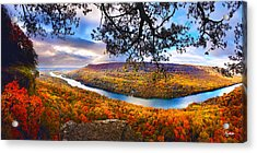 Signal Point At Fall Acrylic Print by Steven Llorca
