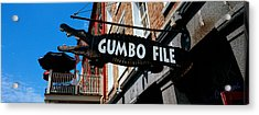 Signboard Outside Of A Restaurant Acrylic Print by Panoramic Images