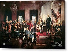 Signing Of The United States Constitution Acrylic Print by Pg Reproductions
