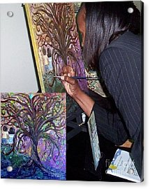 Signing The Tree With Jackie Joyner- Kersee  Acrylic Print