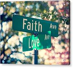 Signs Of Faith And Love Acrylic Print
