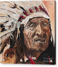 Signs Of His Times Acrylic Print by Annalise Kucan