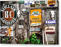 Signs Of The Collectors Corner Acrylic Print