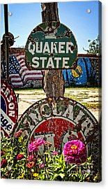 Signs Of The Times On Route 66 Acrylic Print by Lee Craig
