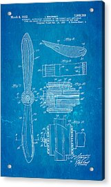 Sikorsky Helicopter Patent Art 4 1932 Blueprint Acrylic Print