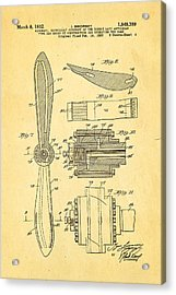 Sikorsky Helicopter Patent Art 4 1932 Acrylic Print