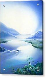 Acrylic Print featuring the painting Silence by Anna Ewa Miarczynska