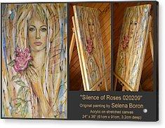 Silence Of Roses 020209 Acrylic Print by Selena Boron