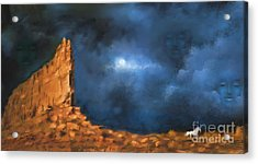 Acrylic Print featuring the painting Silence Of The Night by S G