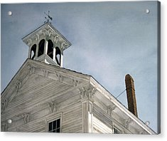 Silenced Bell Acrylic Print by Tom Wooldridge