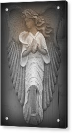 Silent Angel Acrylic Print by Kathy Peltomaa Lewis