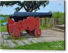 Silent Cannon Acrylic Print by Alys Caviness-Gober