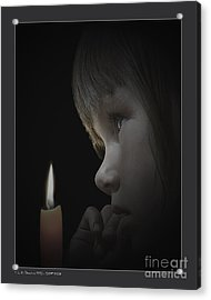 Silent Child Acrylic Print by Pedro L Gili