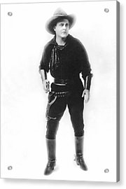 Silent Movie Cowboy Acrylic Print by Underwood Archives