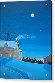 Silent Night Acrylic Print by Norm Starks