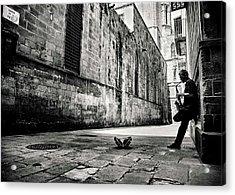 Silent Street Acrylic Print by Gertjan Van Geerenstein