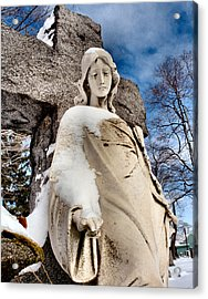 Silent Winter Angel Acrylic Print by Gothicrow Images