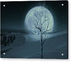 Silent Winter Evening  Acrylic Print