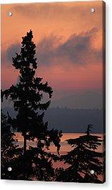 Acrylic Print featuring the photograph Silhouette At Sunrise by E Faithe Lester