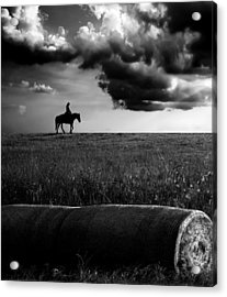 Silhouette Bw Acrylic Print
