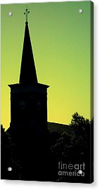 Silhouette Church Acrylic Print by JoNeL Art