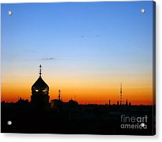 Silhouette In St. Petersburg Acrylic Print by Lars Ruecker