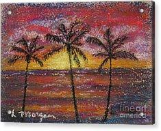 Island Silhouette  Acrylic Print
