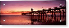 Silhouette Of A Pier, San Clemente Acrylic Print by Panoramic Images